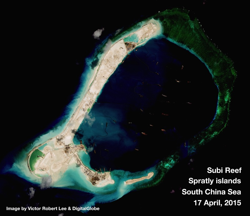 China build artificial islands in South China Sea Thedip14