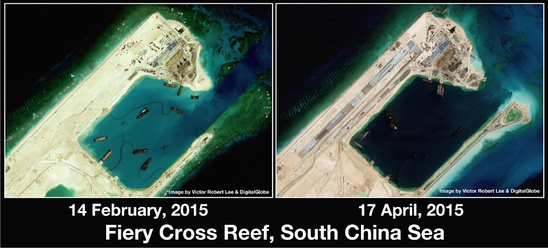 China build artificial islands in South China Sea Thedip16