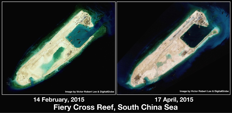 China build artificial islands in South China Sea Thedip17