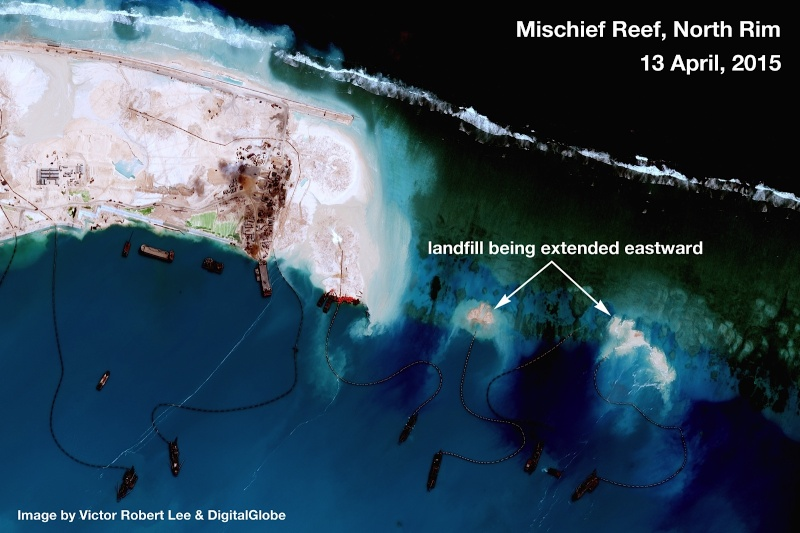 China build artificial islands in South China Sea Thedip18