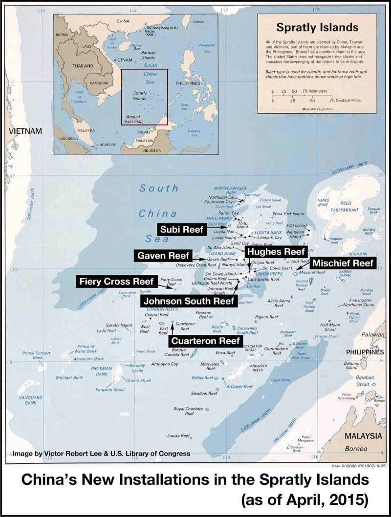 China build artificial islands in South China Sea Thedip19
