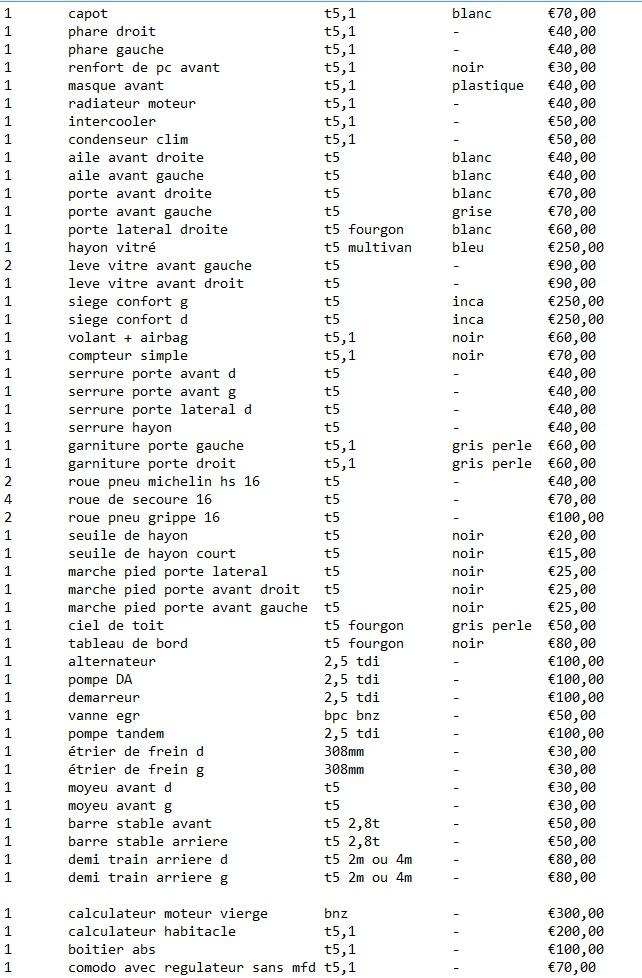 pieces de transporter t5 2.5tdi  - Page 6 Price_10
