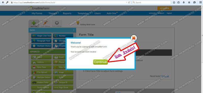 حصريا .. شرح بالصور لكيفية انشاء استمارة عضويه للتواصل واضافة أعضاء جدد  لمجموعتك  ^^ 3_o11