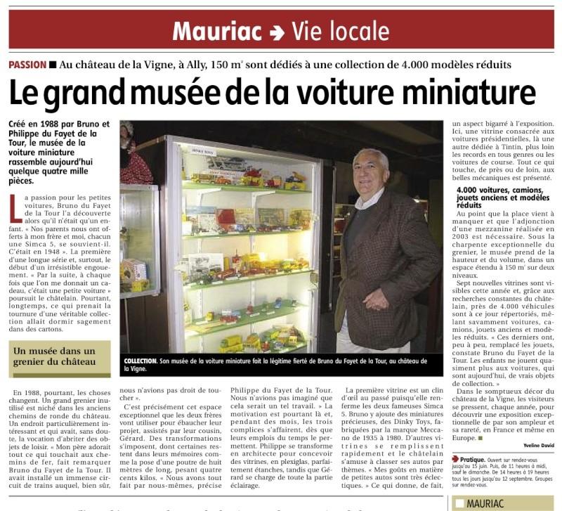CANTAL > Château de la Vigne et son Salon de l'Auto Miniature Musye_10