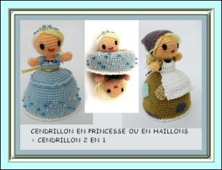 Vitrine des poupées et personnages de dessins animés. TOUTES A VOS CROCHETS  Cendri10