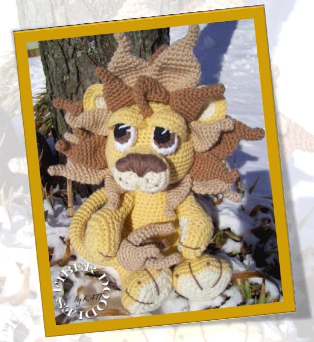 Vitrine des doudous Animaux A VOS CROCHETS  Lion1010