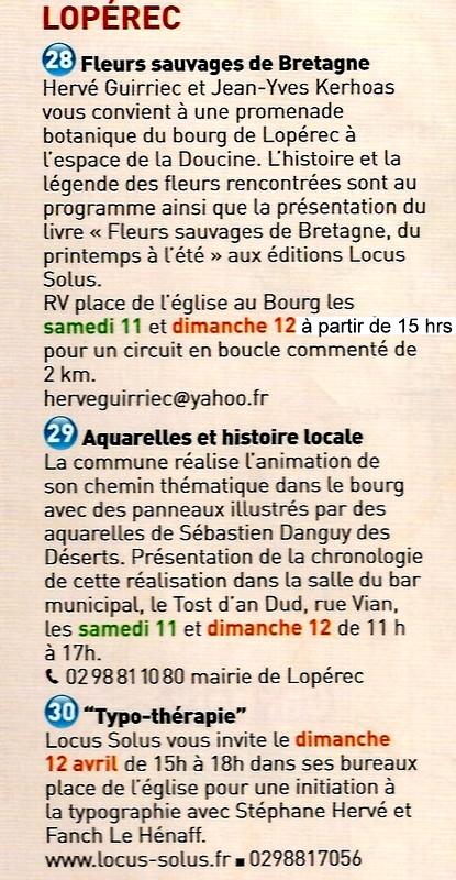 LES SECRETS du PARC, samedi 11 et dimanche 12 Avril 2015 Lop11