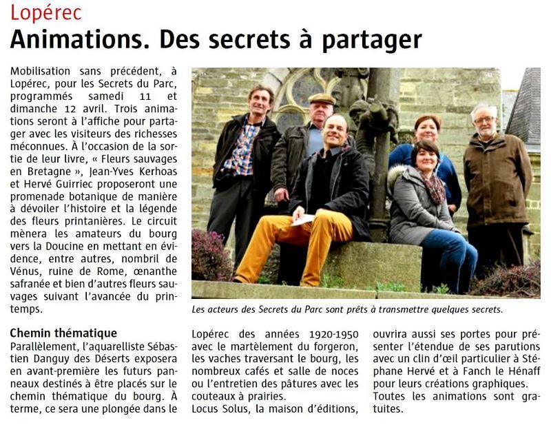 LES SECRETS du PARC, samedi 11 et dimanche 12 Avril 2015 Secret11