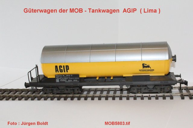 Güterwagen bei der MOB Mob58012