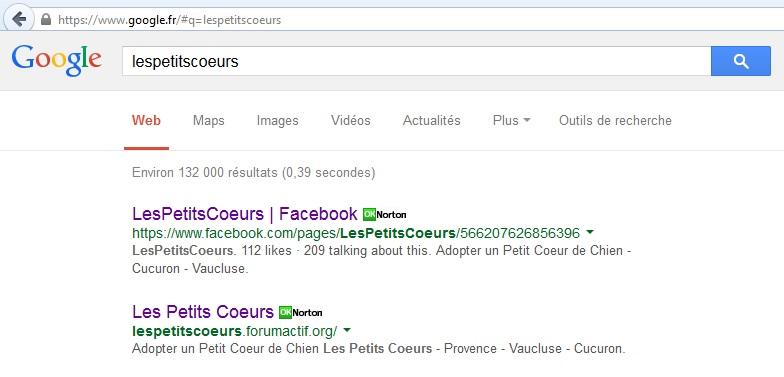 référencement google + recherche = OK Temp34