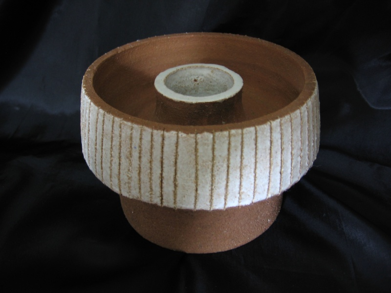 Stoneware Mid Century Candle Holder German?   German18