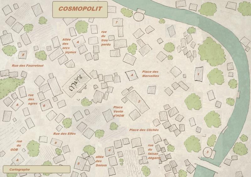 Besoin d'un village, 1 ville pour scénario avec graphismes naheulbeuk Cosmop10