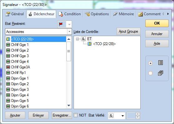 Activation macro avec commande d'aiguillage Signal10