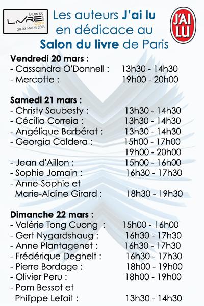 Salon du Livre de Paris - édition 2015  Progra10
