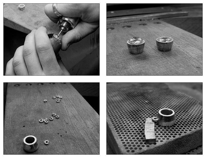 Boucles d'oreille en argent/oxyde de zirconium et petit reportage photo Ytape_15