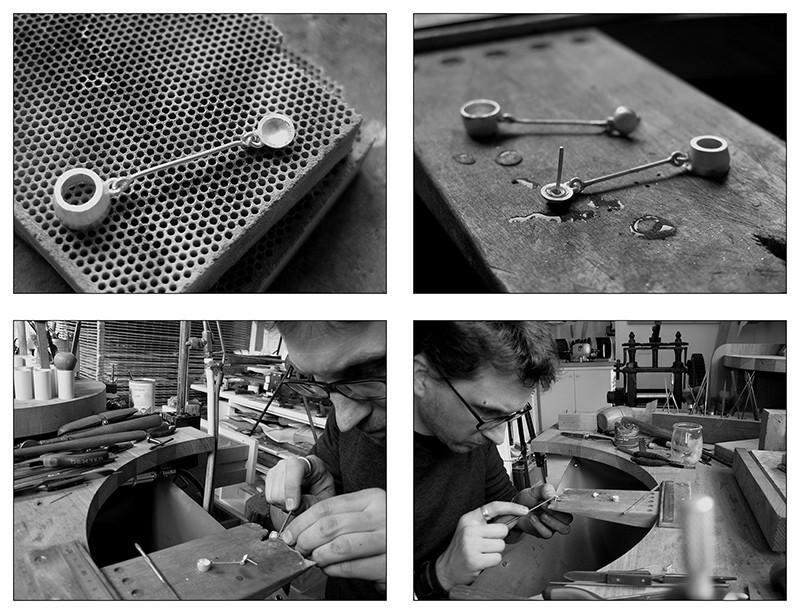 Boucles d'oreille en argent/oxyde de zirconium et petit reportage photo Ytape_17