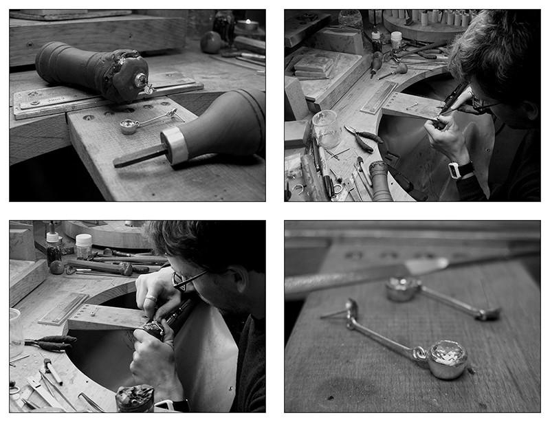 Boucles d'oreille en argent/oxyde de zirconium et petit reportage photo Ytape_18