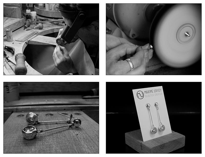 Boucles d'oreille en argent/oxyde de zirconium et petit reportage photo Ytape_19