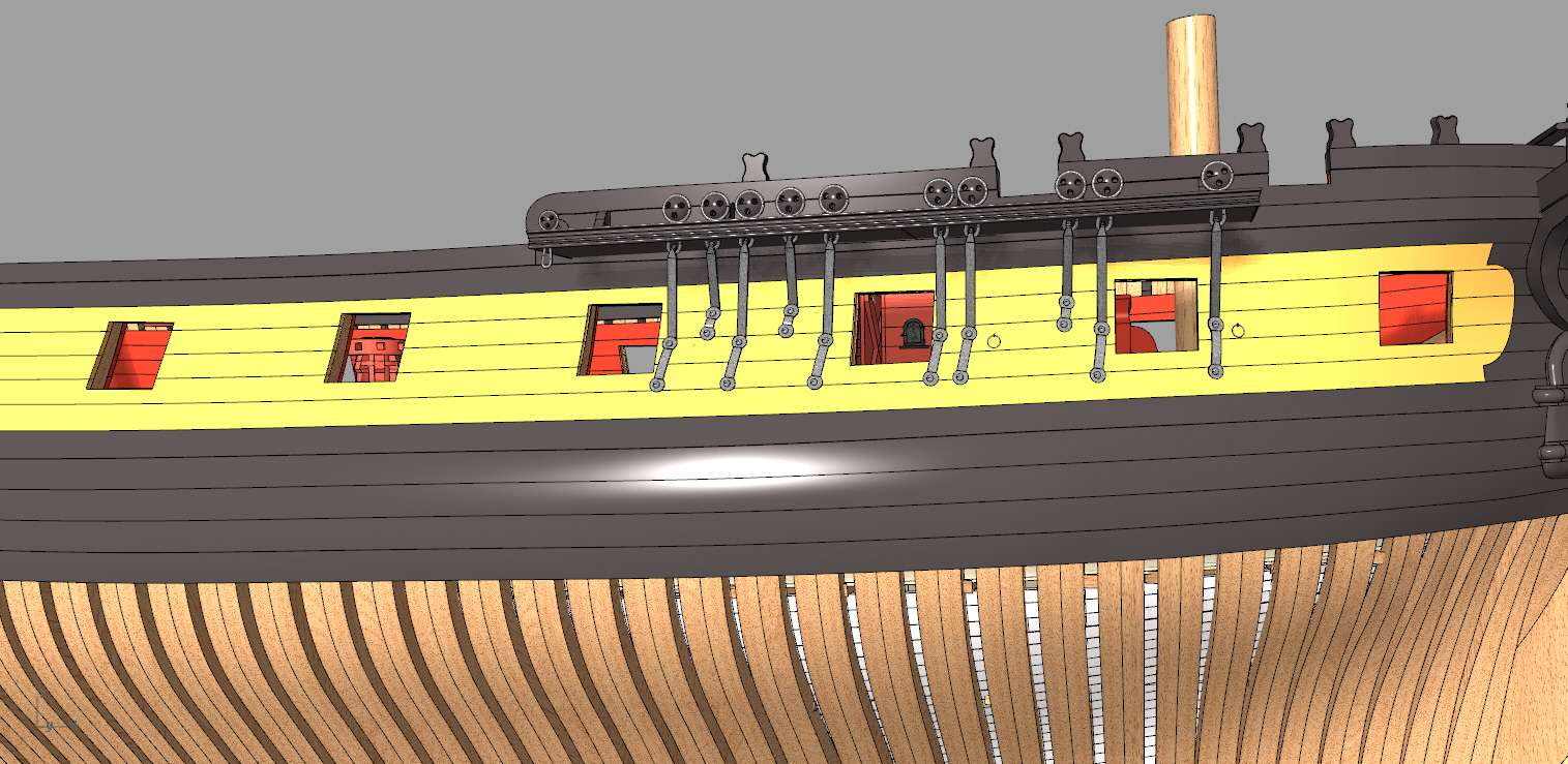 Mahonesa frégate- 34 canons1789 à 1:32 par A. Sorolla plans de Fermin Urtizberea Detall10