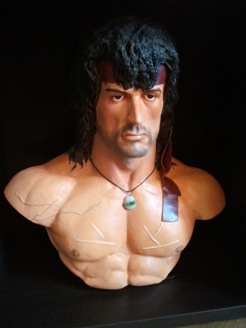 Bustes Rocky et Rambo 1/1 réalisés par Choulis 01010