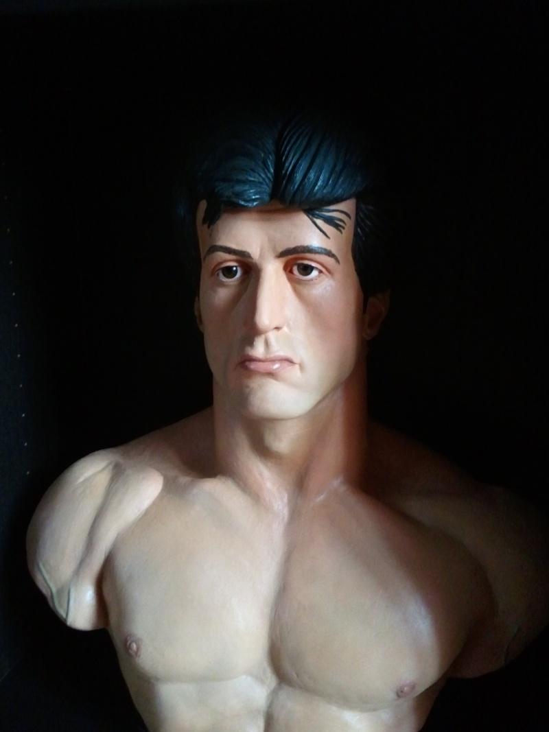 Bustes Rocky et Rambo 1/1 réalisés par Choulis 01110
