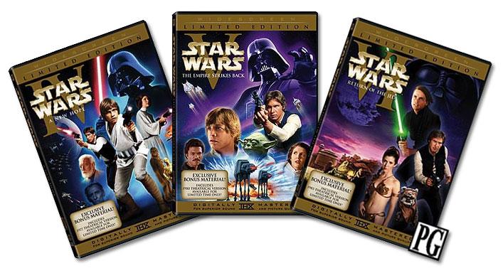 Les versions originales des épisodes IV, V et VI en HD Star-w11