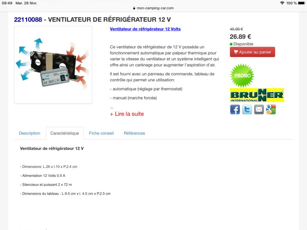 Ventilateur frigo  9171e410