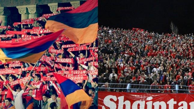 Tifozët armenë: Nuk janë të vërteta lajmet se ne do ta djegim flamurin shqiptar 20150310