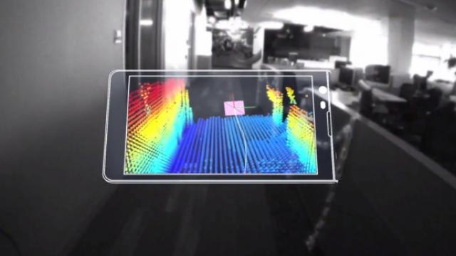 Google prezanton Project Tango, telefonin me harta 3D Google10