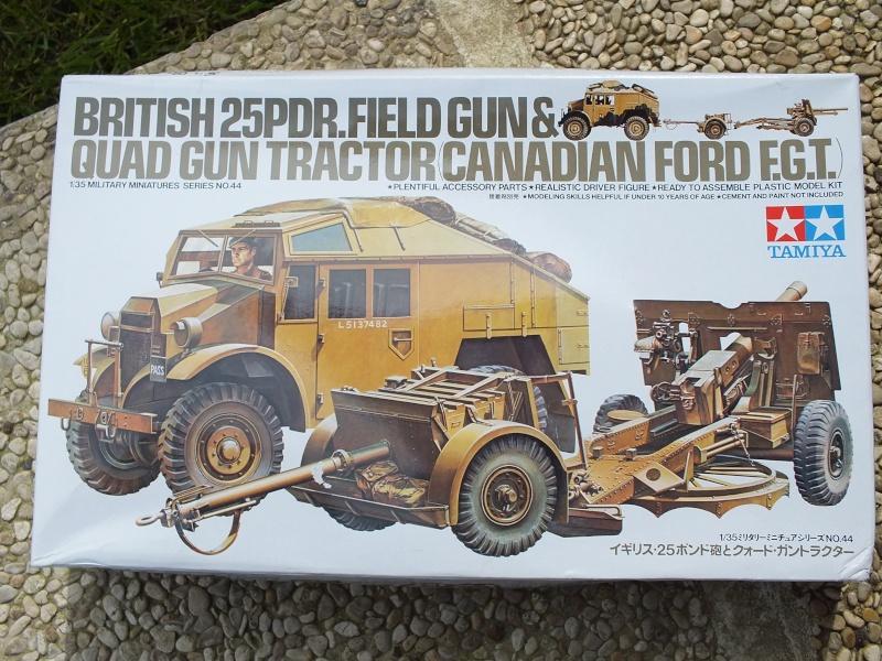 British 25pdr. field gun & Quad Gun Tractor (Canadian Ford F.G.T)  (Tamiya 1/35 réf. 35044) Dscf7835