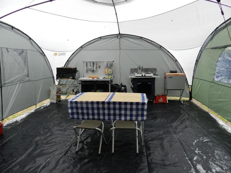 Quechua T6.2 XL & Coleman event shelter 4.5 x 4.5m Dscn0312
