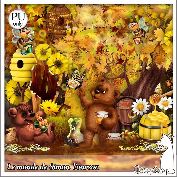 LE MONDE DE SIMON L'OURSON DE KITTYSCRAP dans Septembre kitty227