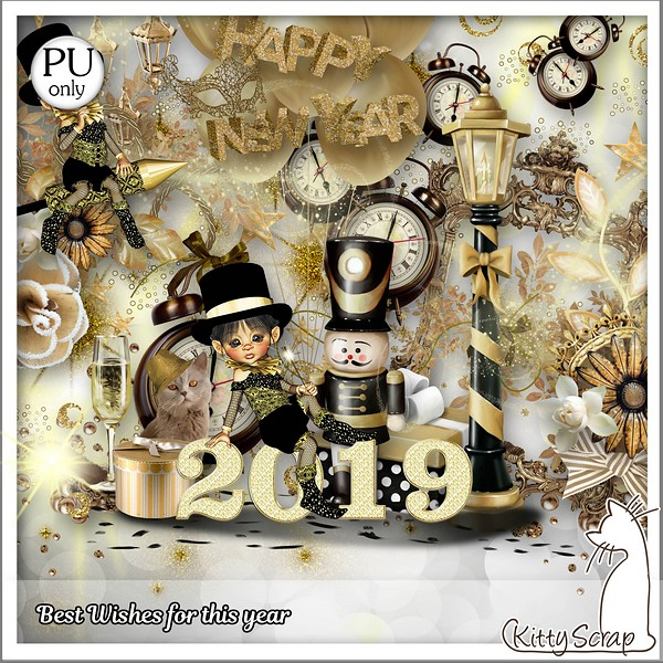 Best wishes for this year de Kittyscrap dans Janvier kitty341