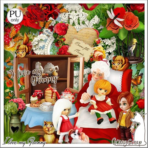 I love my Granny de Kittyscrap dans Février kitty411