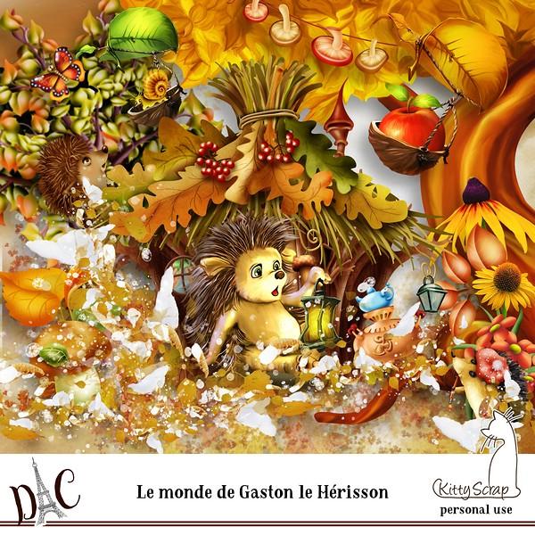 LE MONDE DE GASTON LE HERISSON DE KITTYSCRAP dans Septembre previ108