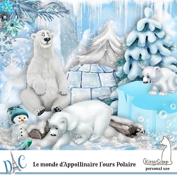 Le monde d'Apoollinaire l'ours polaire de Kittyscrap dans Decembre previ170