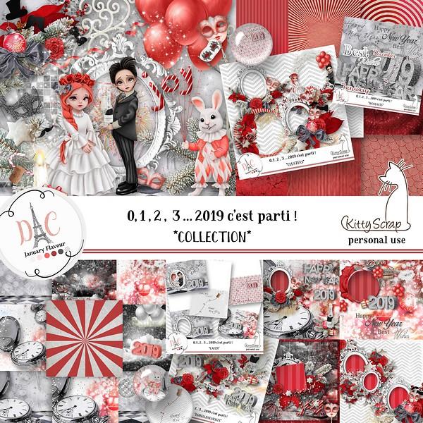 1,2,3 ... 2019 c'est Parti ! de Kittyscrap dans Janvier previ189