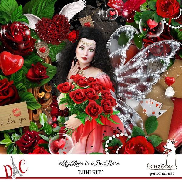 My love is a red rose de Kittyscrap dans Février previ224