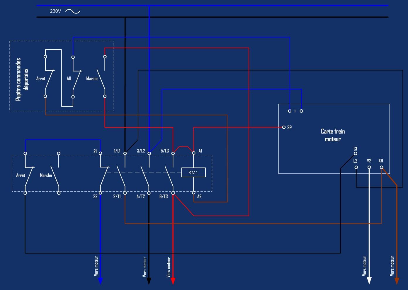 Motorisation table raboteuse (voir p.13) et amélioration R/D Holztech FS320 (première partie)  - Page 22 Cablag11