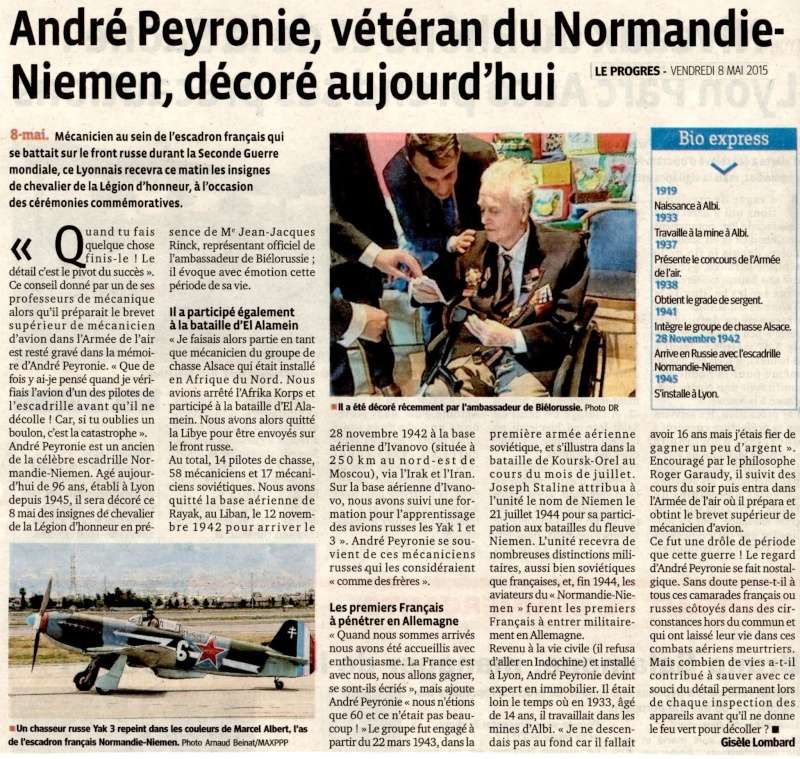 8 mai 2015 remise de la légion d'honneur à M. André Peyronie. 9 mai,  visite de la délégation de l'ambassade de Russie 11165110