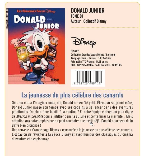 [Bandes Dessinées] Les Grandes Sagas Disney (2012) Donald Junior - Tome 1 le 19 août 2015 Glynat11