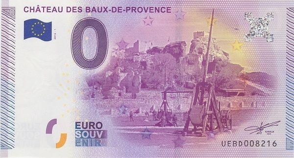 Billets 0 € Souvenirs  [SUD = 62] Baux_d10