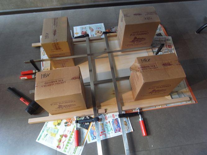 tavolino per bonsai realizzato in economia A410