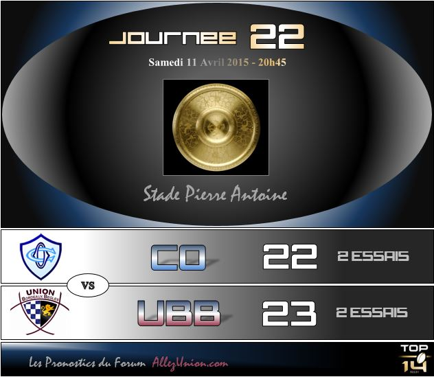 PRONOS 2014/2015 . CO - UBB J2210