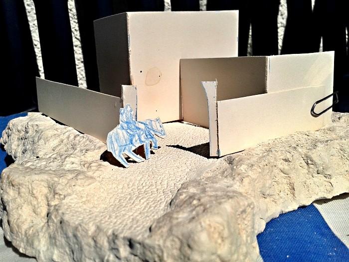 Die alte Herberge. Ein kleines Diorama in 1:100 Stellp10