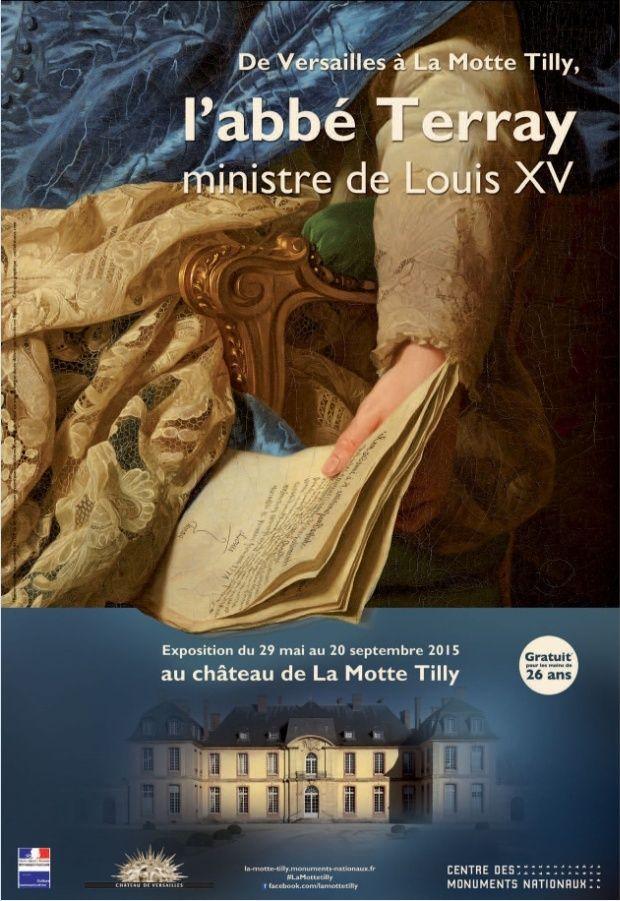 """Exposition """"L'abbé Terray"""" château de La Motte-Tilly 2015 Affich11"""