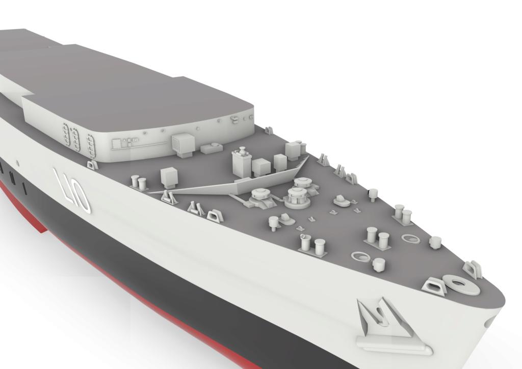 HMS Fearless (scratch 3D 1/350°) par horos 1310