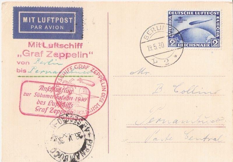 nach - Südamerikafahrt 1930, Post nach Pernambuco - Seite 3 Sa30_b10