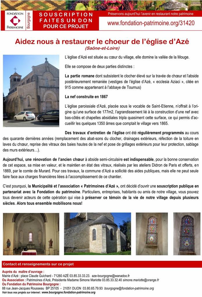 Azé lancement officiel du mécénat populaire pour la rénovation du chœur  roman de l'église d'Azé 1_copi12