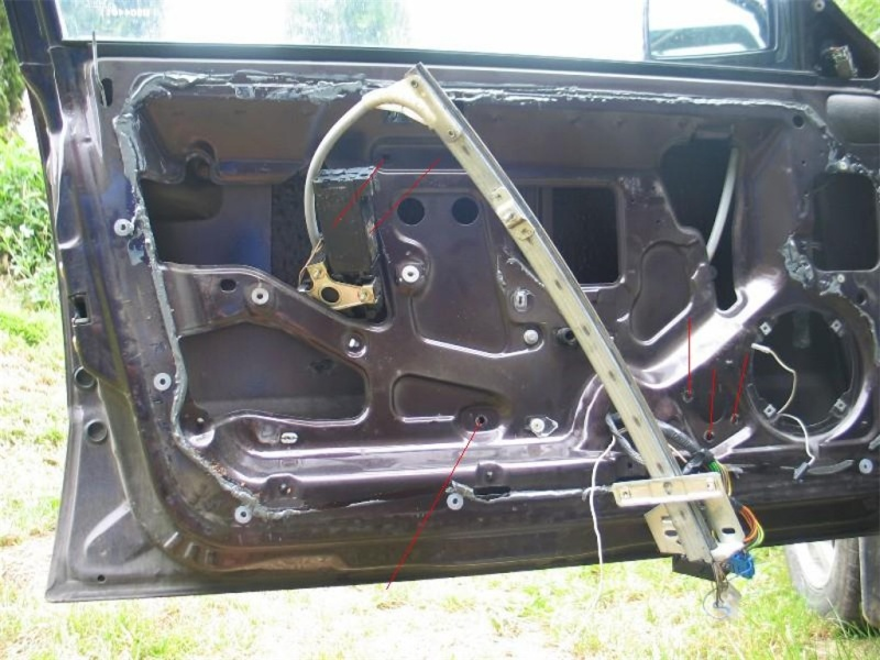 monter vitre électrique sur une ts  411